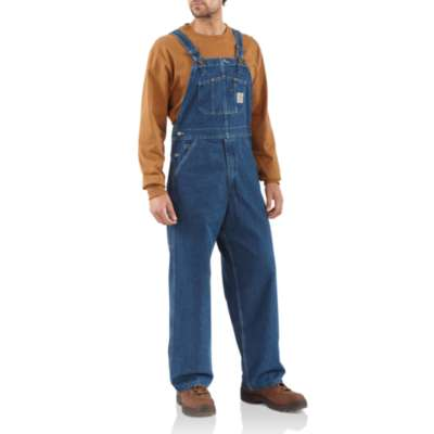 Carhartt Washed Denim Bib Overall/Unlined Style# R07