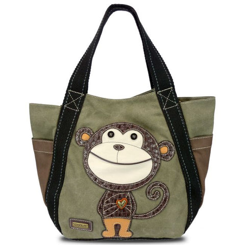 Chala Smartie Monkey Carry All Zip Tote