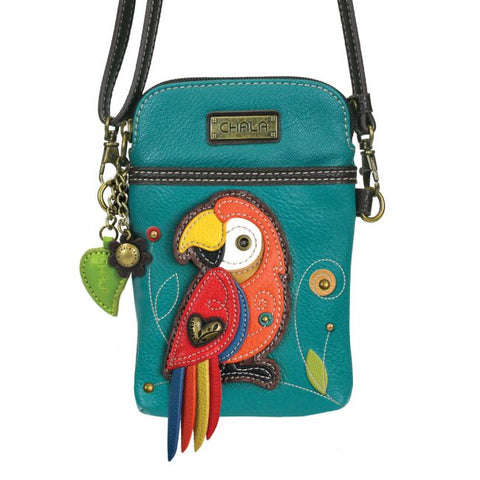 Chala Parrot Cell Phone Crossbody
