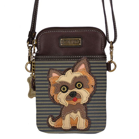 Chala Yorkie Cell Phone Crossbody