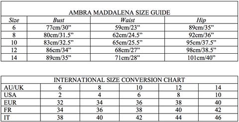 AM Size Guide