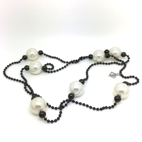 Collier Perles Blanche