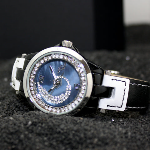 Montre Black and White - Vague de Diamant