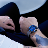 Montre Chronographe Bleu - Made in Normandie