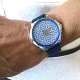 Montre cathédrale bleu made in Normandie