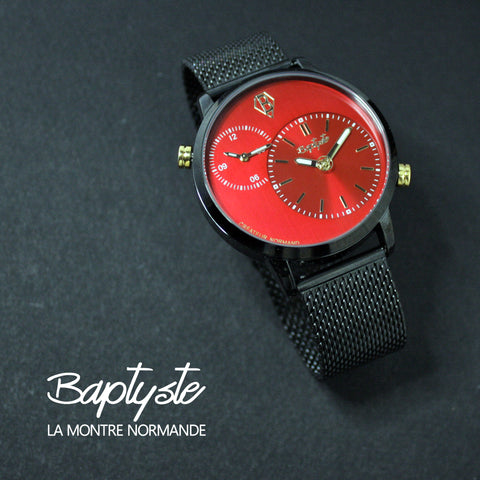 Montre Paris New York - Rouge et Noir - 46mm