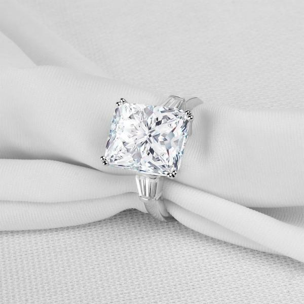 5 Carat Princess Cut Silver Ring Of Compassion™