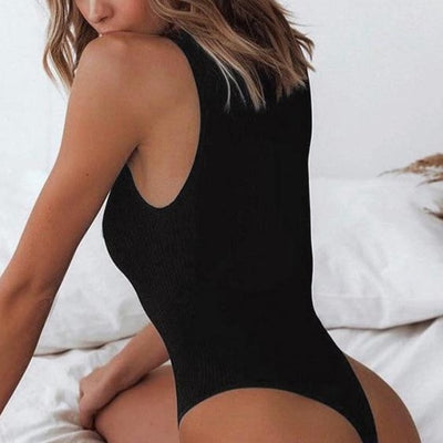 Sleeveless Ribbed Knitted Bodysuit