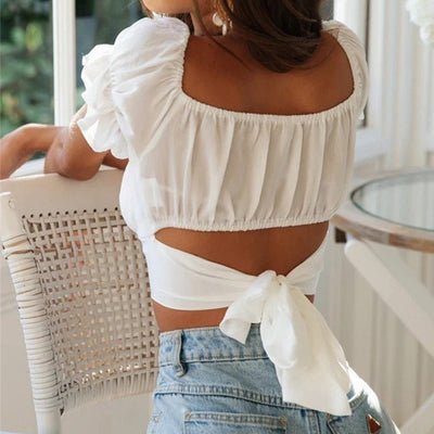 Off Shoulder Puff Sleeve Blouse
