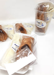 6 Large Fill Your Own, Single Serve Cannoli (Free Shipping)