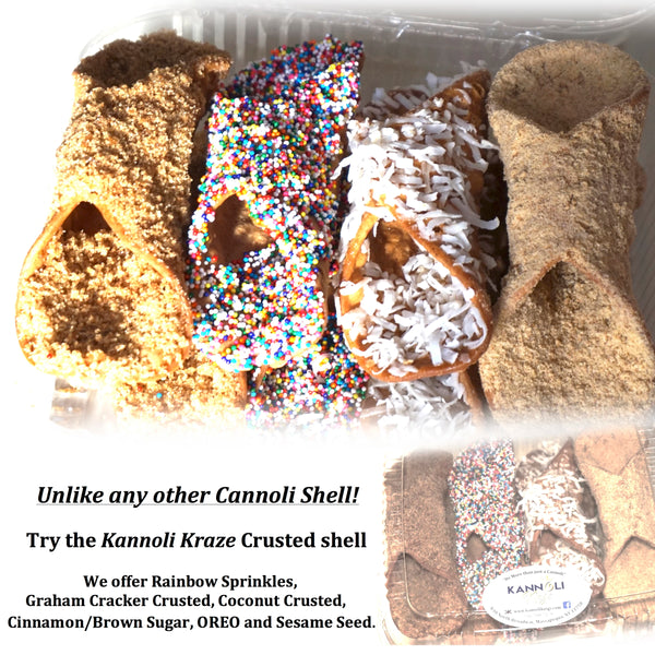8 Large Gourmet Crusted Cannoli Shells (Free Shipping)