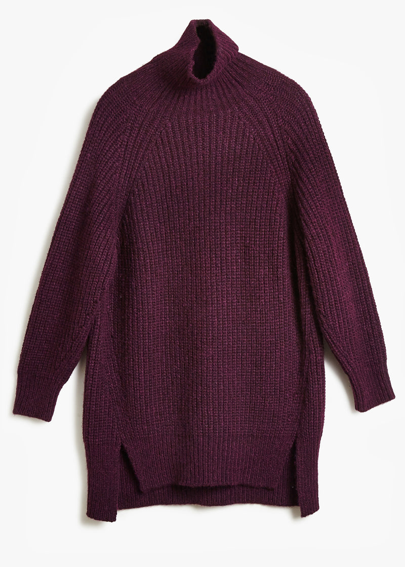 LOFTY FUNNEL NECK TUNIC