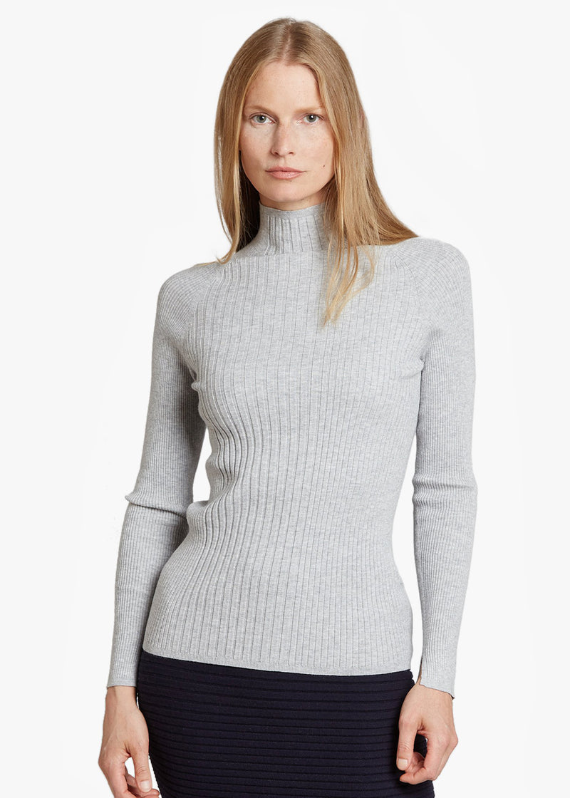 MOCK NECK RIB TOP
