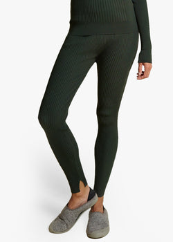 RIBBED LEGGINGS