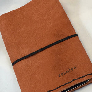 "Small Moleskine Portfolio  ""Resolve"""