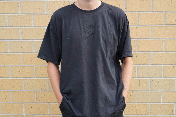 All Black Logo Tee