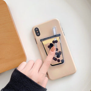 Bubble Tea Liquid Phone Case for iPhone and Huawei
