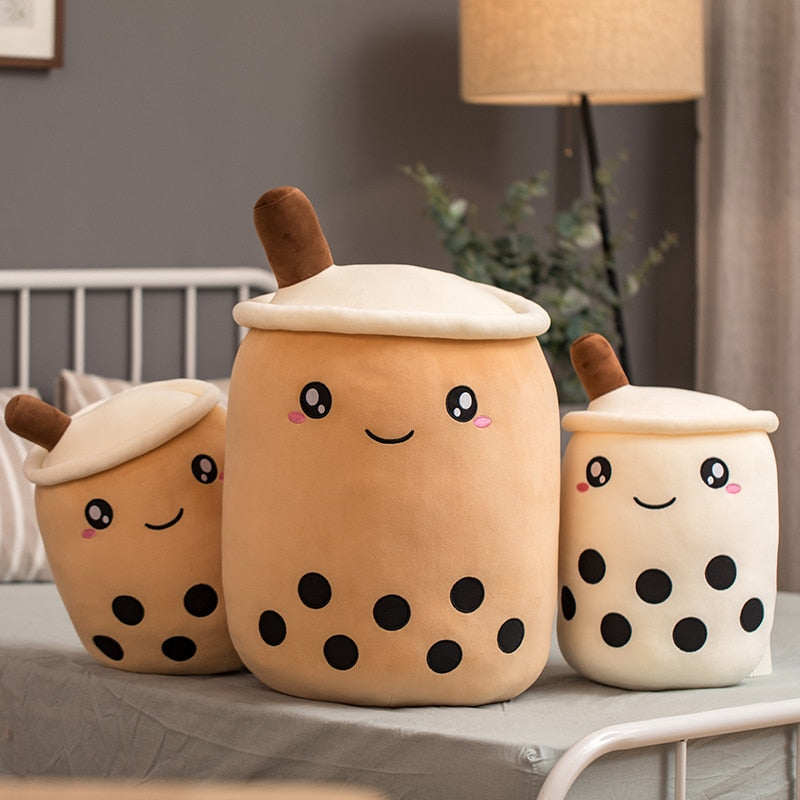 Cute Bubble Tea Plushie Cushion