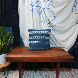 Vintage Indigo Mini Cushion