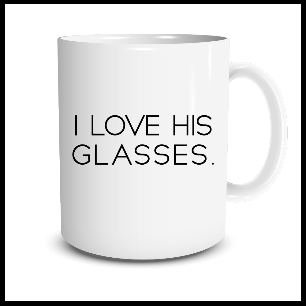 I Love His Glasses Mug