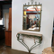 1940's Wrought Iron Console Table and Mirror