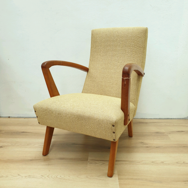Retro 1950's Vintage armchair Newly Upholstered
