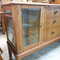 1950's Sideboard with Black Vitrolite Drinks Return and Glass Display Cabinet