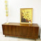Restored 1970's Blackbean Timber Veneer Retro Sideboard Buffet