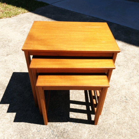 1970's Retro Parker Teak Nest of Tables