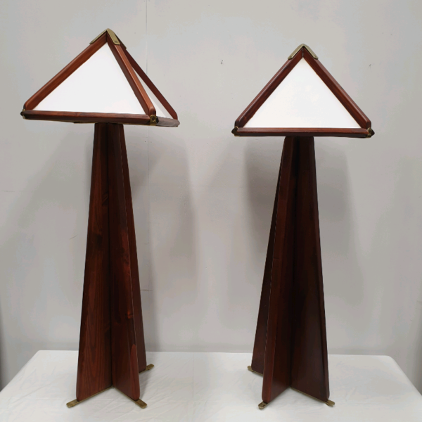 Pair of Wooden Arts & Craft Style Lamps