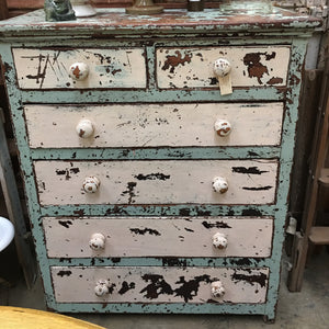 rustic antique cedar chest of drawers distressed