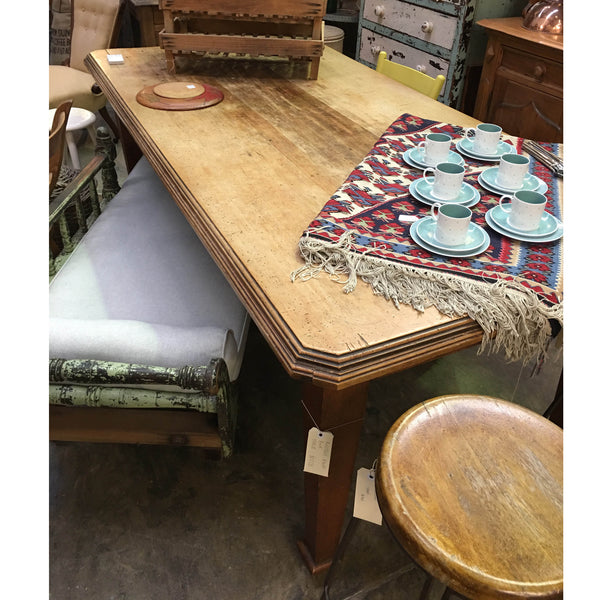 Rustic Antique Kauri Pine Dining Table.