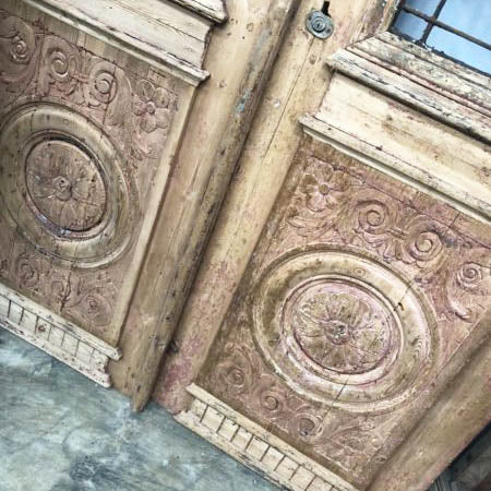 Antique Moroccan Grand Entry Doors Exotic Persian Ornate