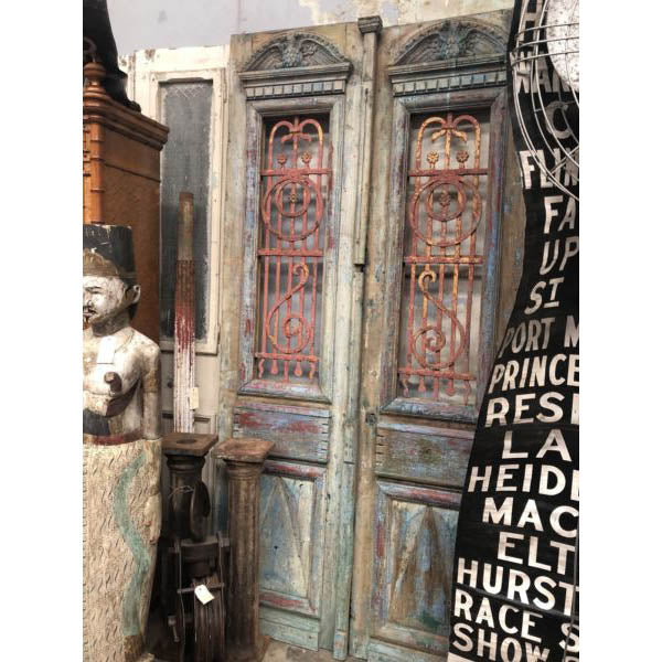 Antique Grand Entry Architectural Rustic French Doors