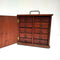 Compact Vintage Cedar Cabinet Carry All with Drawers