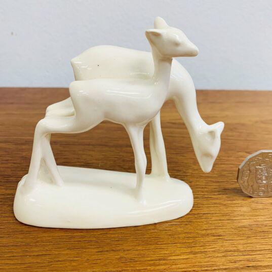 Art Deco Art Deco PZH Gouda Art Pottery Deer Figurine
