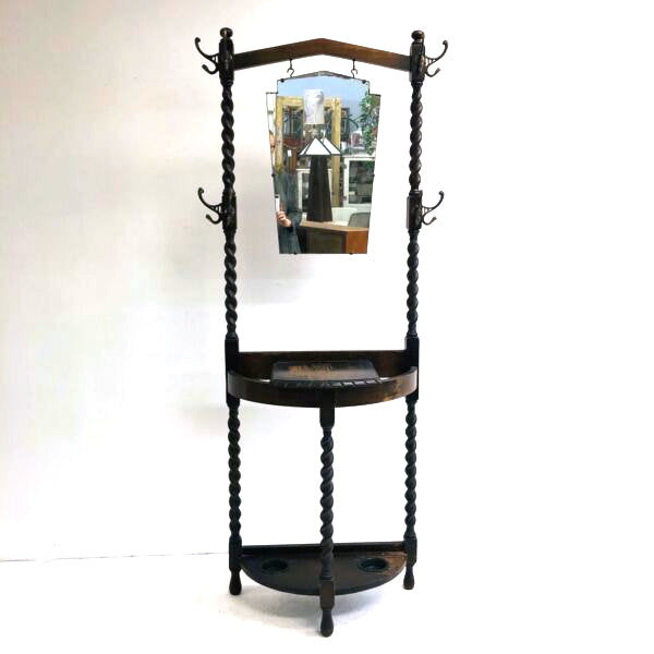 Art Deco Hall Stand - Geometric Mirror