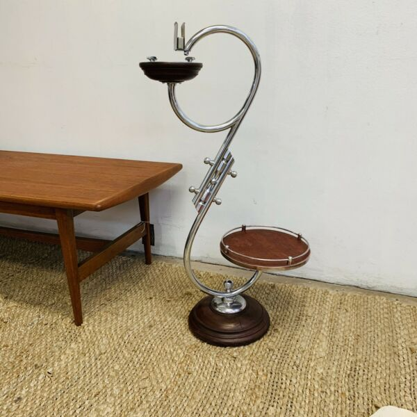 Art Deco Smokers Stand Side Table