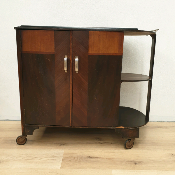 Art Deco Cocktail Trolley Cabinet