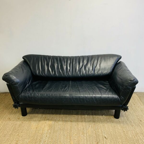 Artifex Black Leather Daybed Lounge
