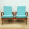 retro upholstered armchairs