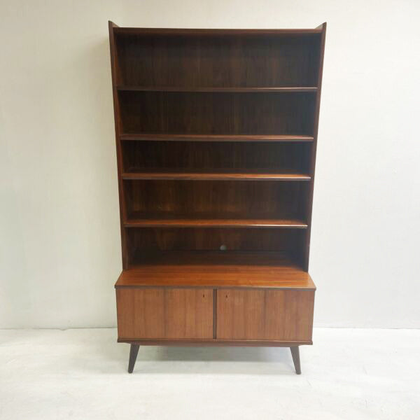 Mid Century Danish Upright Bookcase Buffet