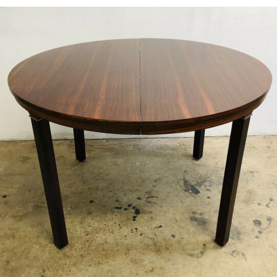 Dutch MCM Brazilian Rosewood Round Extension Table