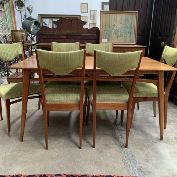 Early 1960's Mid Century Dining Table & Chairs Suite