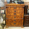 Stunning Antique French Tall Boy Mahogany Chiffonier Chest of Drawers