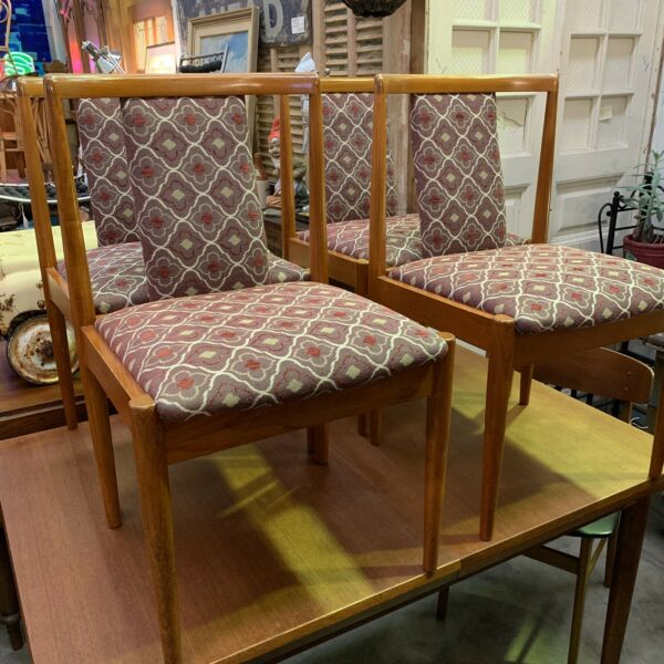 Set Four 'T Back' Parker Dining Chairs