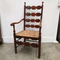 French rush seated ladder back chair