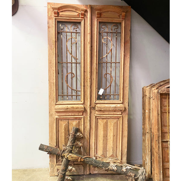 Pair of Egyptian Baltic Pine French Doors