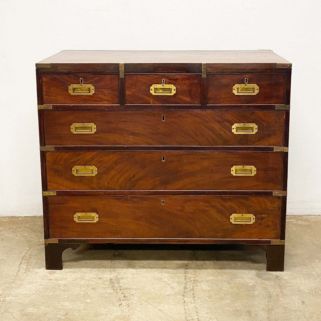 Georgian Style Campaign Chest of Drawers