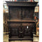 Gothic Brittany French Carved Oak 2 Height Sideboard Cabinet